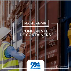 Conferente de Containers e AZ Gerais