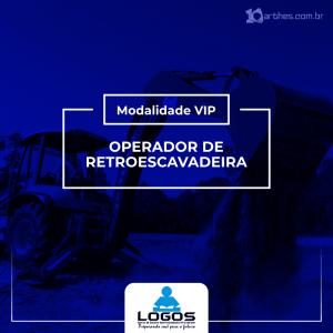 Operador de Retroescavadeira – Modalidade VIP